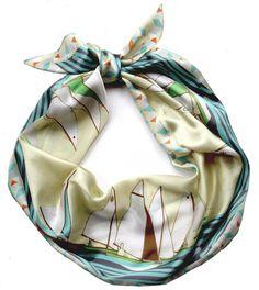 Sailing print scarf.
