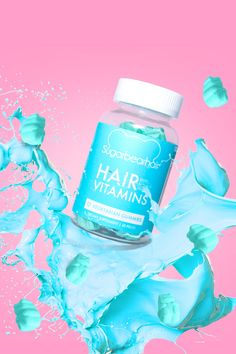 SugarBearHair contains the essential vitamins and minerals your body needs to help your hair look its best! Include Biotin, Folic Acid, and 11 more nutrients to support healthy hair growth!