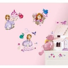 Adesivos De Parade Roommates Colorido Sofia The First Wall Decals