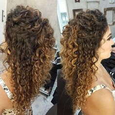 43 Cool Blonde Box Braids Hairstyles to Try - Hairstyles Trends Curly Long Bangs, Thin Curly Hair, Curly Hair Styles, Short Hair, Curly Bridal Hair, Curly Wedding Hair, Bridesmaid Hair Curly, Wedding Hairstyle, Box Braids Hairstyles