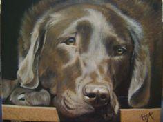 AMAZING Custom pet portrait oil on canvas by CustomDogPortraits,