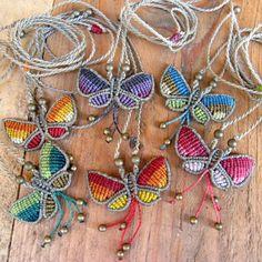 collar mariposa colores / Mediterrasian - Artesanio