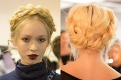 Our Favorite Braids From New York Fashion Week- #2 Milkmaid Braids at Alice + Olivia #TeenVogue
