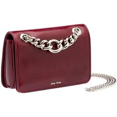 Enter the Miu Miu world and shop the new collection online. Red Shoulder Bags, Chain Shoulder Bag, Leather Shoulder Bag, Red Purses, Purses And Bags, Leather Purses, Leather Handbags, Burgundy Handbags, Miu Miu Handbags