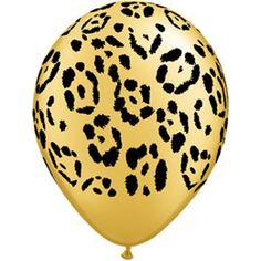 Ballon panter Qualatex -  Ballon panter. Een Amerikaanse extra sterke ballon bedrukt met pootjes van een luipaard. Leuk voor tropische feestjes.   www.feestartikelen.nl