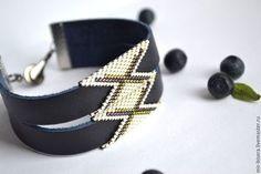 """Браслеты ручной работы. Ярмарка Мастеров - ручная работа. Купить Кожаный браслет """"Дикий В17"""". Авторская работа. Handmade."""