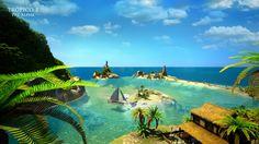 Paraiso tropical em formato digital!
