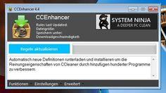 """CCEnhancer (+159)  """"CCEnhancer"""" ist eine Erweiterung für das Gratis-Tuning-Programm """"CCleaner"""". Das Tool ergänzt die """"CCleaner""""-Datenbank um über 1.000 Anwendungen und Software-Komponenten, deren Dateirückstände das Hauptprogramm dann finden und entfernen kann. So sparen Sie noch mehr Speicherplatz und beschleunigen Ihr Windows-System."""