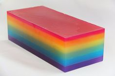 Over the Rainbow Glycerin Soap Loaf for Rainy Days or Birthday Gifts ROYGBIV on Etsy, $30.00.  Nice guest soap?