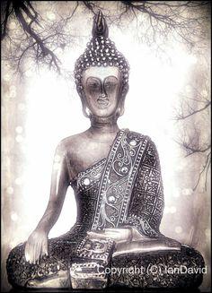 Buddha photo Buddha art silvery Buddha picture calm by IanDavidArt, £15.00