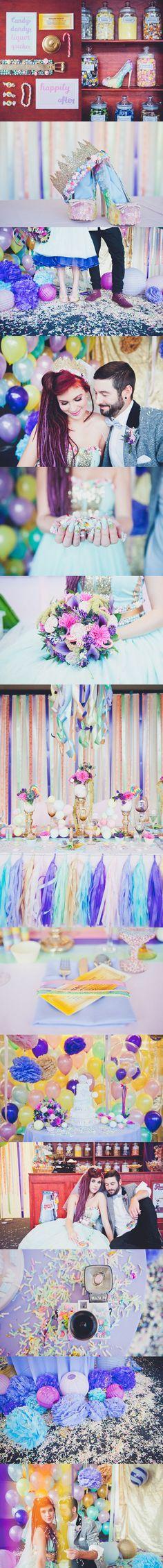 Weird & Wonderful Wedding World : Willy Wonka inspiration #candy #sweet #colorful