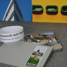 Postkarten von Aarau.  20 Stück in einer schönen Aludose. 2 Sets: CLASSIC & ART CHF 29.00