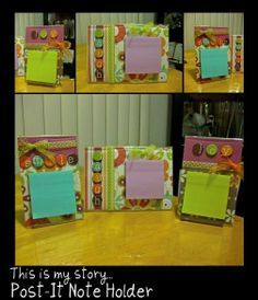 My version of the decorative Post-It note holder....a great gift idea!