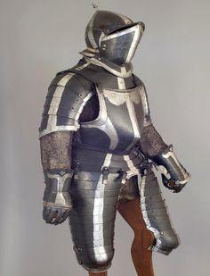 Three Quarter Horse Armour, German Black & White