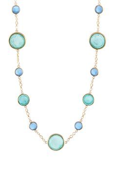 Long Round Station Necklace