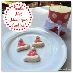These cookies are hands-down my kids' favorite holiday cookie! They are crispy on the outside but they melt in your mouth just like cotton candy! Not to mention these Santa hat meringue cookies are absolutely adorable to look at!