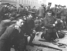 """WW1: The Irish Guards, members of the British Expeditionary Force prepare to ship to France in early August, 1914. Although the BEF was a much smaller contribution that the other major powers made at the beginning of the war, this superbly trained professional force would earn the nickname """"Old Contemptibles"""" for the fierce defense they put up as the German  forces pushed through Belgium into France."""