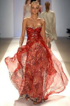 Red and floaty and fabulous!  Carlos Miele