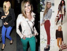 6 ways to wear colored denim