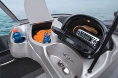 Tracker Targa 18 WT  2013 The port glovebox is loaded with everything from a cooler/storage area to a glovebox with an AM/FM/CD stereo Jon Boats For Sale, Aluminum Fishing Boats, Tracker Boats, Storage Area