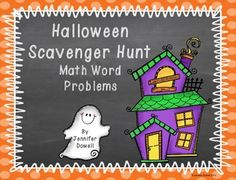 Word Problems- Halloween Scavenger Hunt