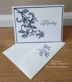 Sympathy Card made with Stampin' Up!'s Flourishing Phrases Stamp Set and Flourish Thinlits. For details, go to my Wednesday, February 15, 2017 blog at http://www.stampinup.net/blog/2130686/entry/flourishing_phrases_sympathy_card