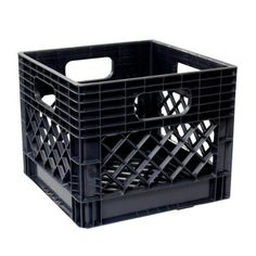 GSC Technologies 11 in. x 13 in. x 13 in. Black Milk Crate-MC131311-002 -  The Home Depot 320f4f1617e1c