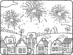 A summer picture picnic scene for your child to colour in