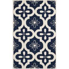 Safavieh CHT751C Chatham Wool Hand Tufted Dark Blue/Ivory Rug