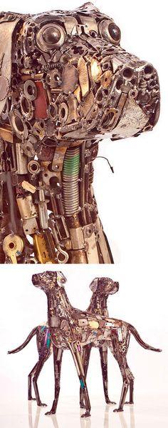 """Ripley's dog"" welded sculpture by artist Brian Mock"