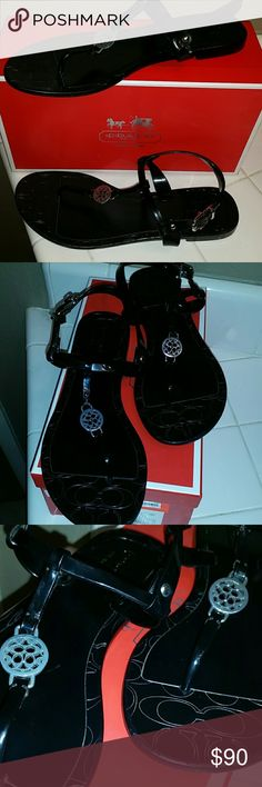 Coach Sandals Pansy Jelly Coach Sandals worn a couple of times Coach Shoes Sandals