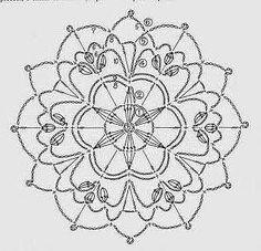 Handmade Anabelia: Crochet lace doilies and motifs Crochet Snowflake Pattern, Crochet Motifs, Crochet Snowflakes, Crochet Diagram, Crochet Chart, Crochet Squares, Thread Crochet, Crochet Stitches, Crochet Books