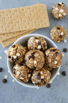 S'mores Energy Bites are an easy no-bake snack that kids and adults love. These protein balls are a family favorite!