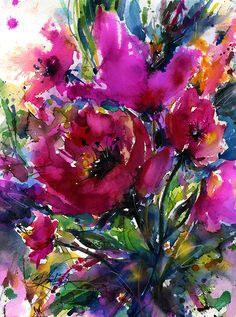 Jubilation - Original Watercolor painting by Kathy Morton Stanion