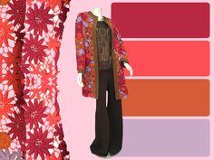 #creación#ElenaUrrutia#tonos#rosados#abrigo#flores#cafe