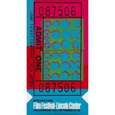 Andy Warhol Ticket Stub poster  USA, 1967