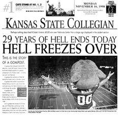 1998 KSU beats Nebraska.