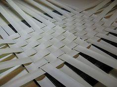 Weave a basket out of old mini blind slats.  hmmmm!