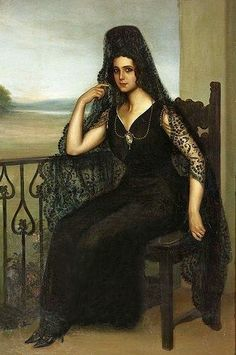 Art from Spain - Julio Romero de Torres (Córdoba 1874 – 1930) was a Spanish painter. He was born and died in Córdoba, Spain, where he lived most of his life. He combined many different styles when he painted because he had many different influences. A museum dedicated to the work of de Torres is situated at Plaza del Potro 1 in Cordoba. Raquel Meller con mantilla.