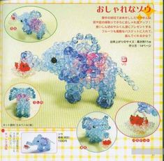 The volume of beads figurine - elephant, weaving scheme