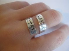 Hakuna matata , Sterling Silver ring,disney,  Personalized ring, gifts for best friends, mens gifts, hakuna matata, Valentines Day. $16.00, via Etsy.