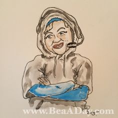 "#BettyADay 138/365 ""Bill Bettychick"" from my daily Betty White art project #DeflateGate"