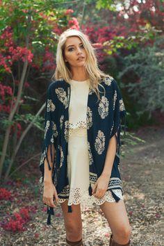 flash sale Navy Kimono Beach cover up Leaf Paisley Kimono