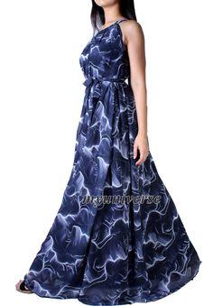 Party Dress Maxi Dress Full Length Evening Gown Dress Extra Long Plus Size Dresses Clothing Chiffon Dress 1X 2X 3X Wedding Dress Navy Blue