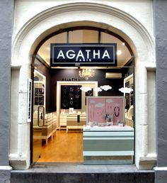 AGATHA Paris - top of Vulcan Lane, Auckland Central, New Zealand Window Design, Auckland, New Zealand, Paris, Boutiques, Branding, Graphics, Top, Fashion