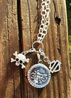 Bikers Living Locket with Harley Davidson by SugarBonesApparel, $65.00