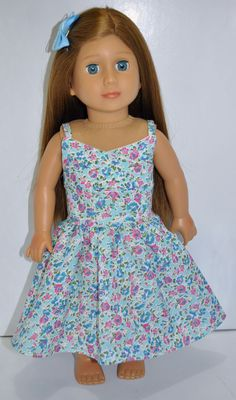 18 Inch Dolls Clothes, American Girl Doll, Our Generation Doll, Journey Girl Doll. $17.00 From Sew Nice Dolls Clothes and Accessories #dollsclothes