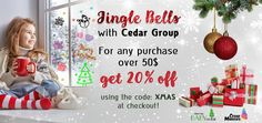 Only 19 days until Christmas! Cedar Group wants to brighten your holiday shopping with a Christmas sale. 🎁 When you spend $50.00 or more, get 20 % off your entire purchase!! Use code XMAS at checkout! Merry Christmas from Cedar Group to you! . #Christmas #ChristmasTime #ChristmasShopping #CedarMarkers #CedarNet #Shop #ShopOnline #Gifts #GiftGiving #HolidaySeason #Xmas #Sale #BargainShop #DealOfTheDay Christmas Shopping, Christmas Sale, Merry Christmas, Xmas, Days Until Christmas, 19 Days, Bargain Shopping, Giveaways, Markers