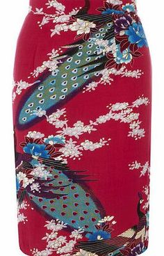 Dorothy Perkins Womens Ruby Rocks Oriental Print Pencil Skirt- Hot pink oriental print pencil skirt with exposed brass zip back fastening. 100% Viscose. Machine washable. http://www.comparestoreprices.co.uk/skirts/dorothy-perkins-womens-ruby-rocks-oriental-print-pencil-skirt-.asp