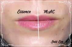 "#MAC #Dupes # Essence (DUPE) Mac ""Brace"" vs. Essence ""Natural beauty"""